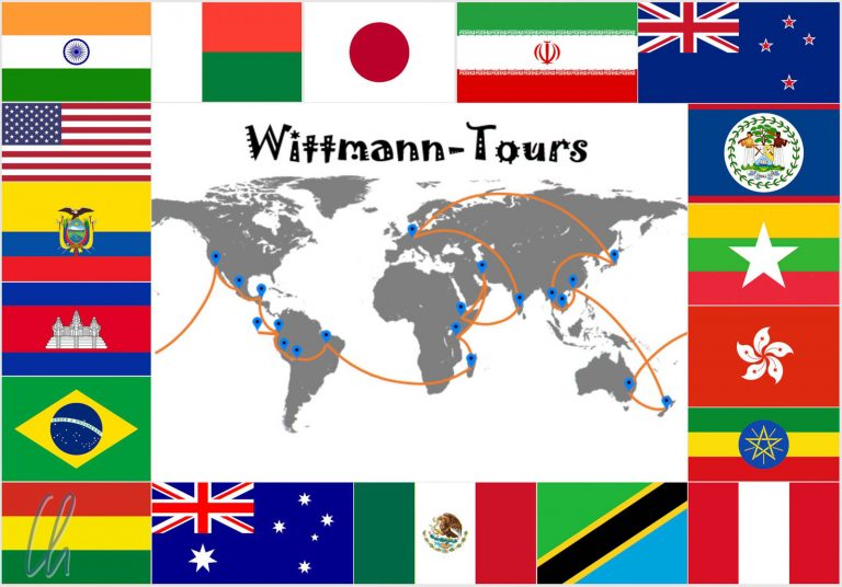 Die Flaggen der Länder auf unserer Reiseroute: Könnt ihr sie zuordnen?