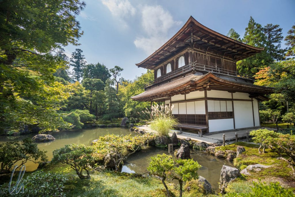 Der Kannon-den (Silberner Pavillon), Genkaku-ji, Kyoto, Japan