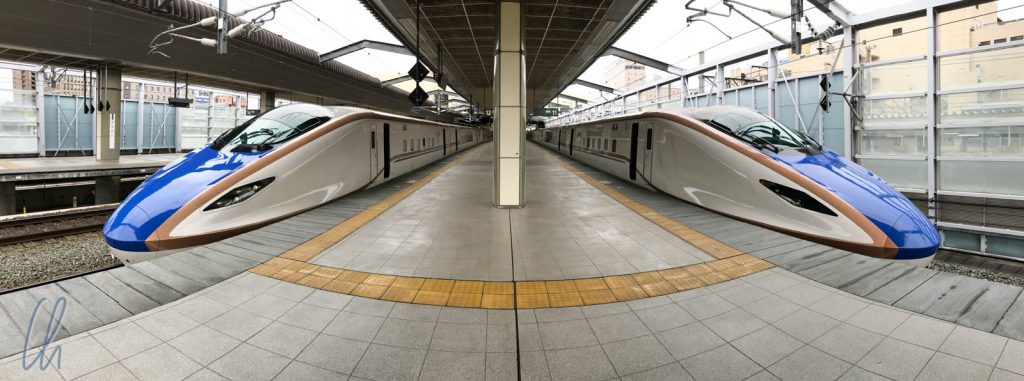 Der Shinkansen, immer auf die Minute pünktlich