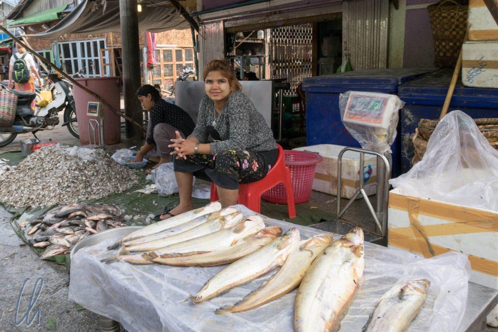 Auf dem Fischmarkt in Mandalay