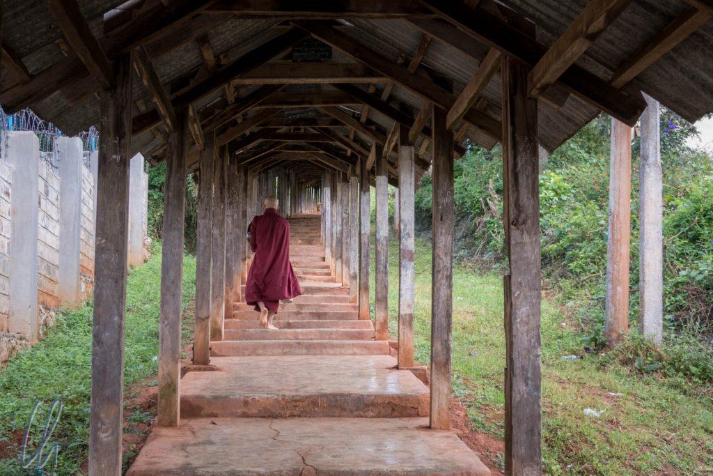 Ein Mönch in Kalaw