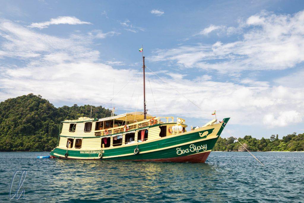 Die Sea Gypsy ankert, wir dürfen schnorcheln