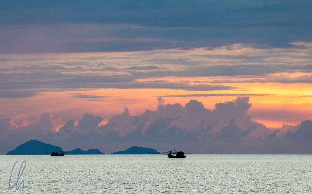 Sonnenuntergang in der Andamanensee