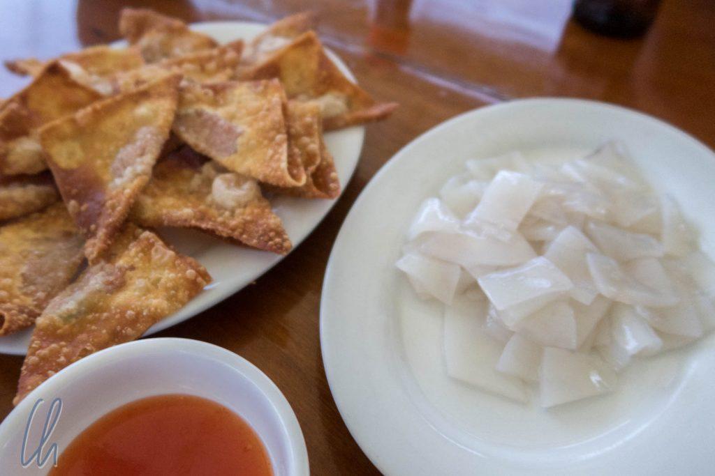 Tintenfisch-Sahimi als Nachmittags-Snack