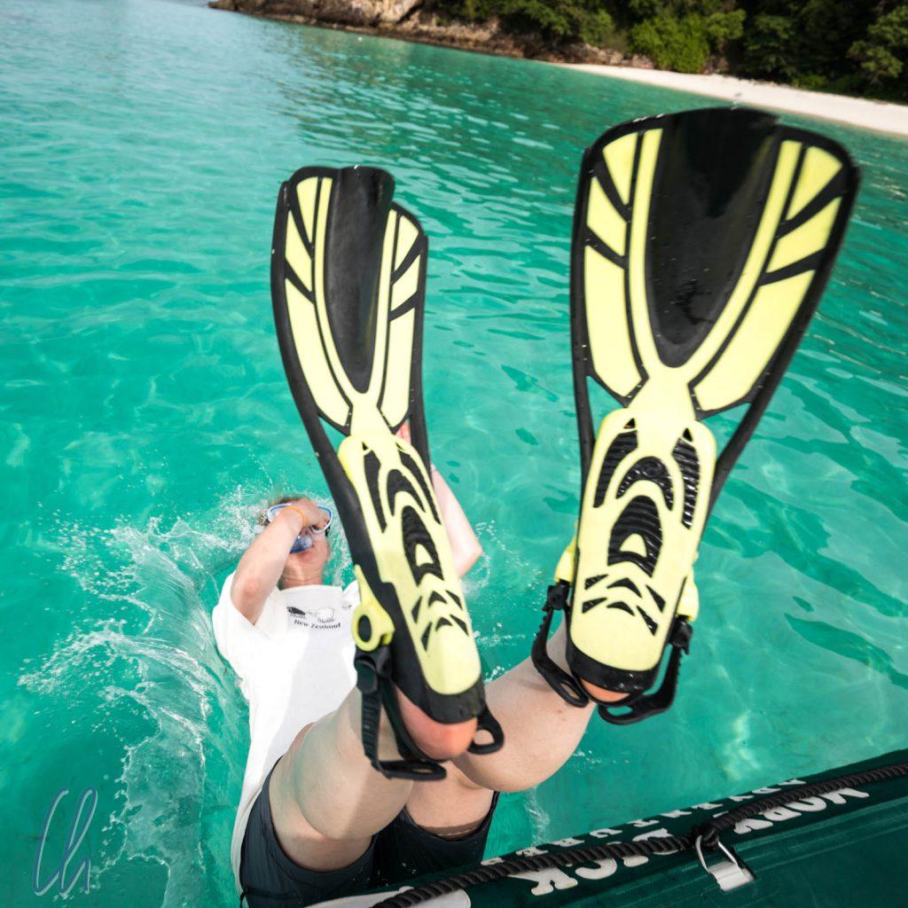 Platsch! Eintauchen in die Andamanensee