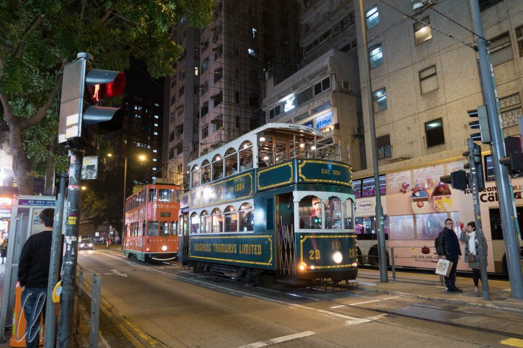 Schon fast historisch: Die Tram in Hongkong