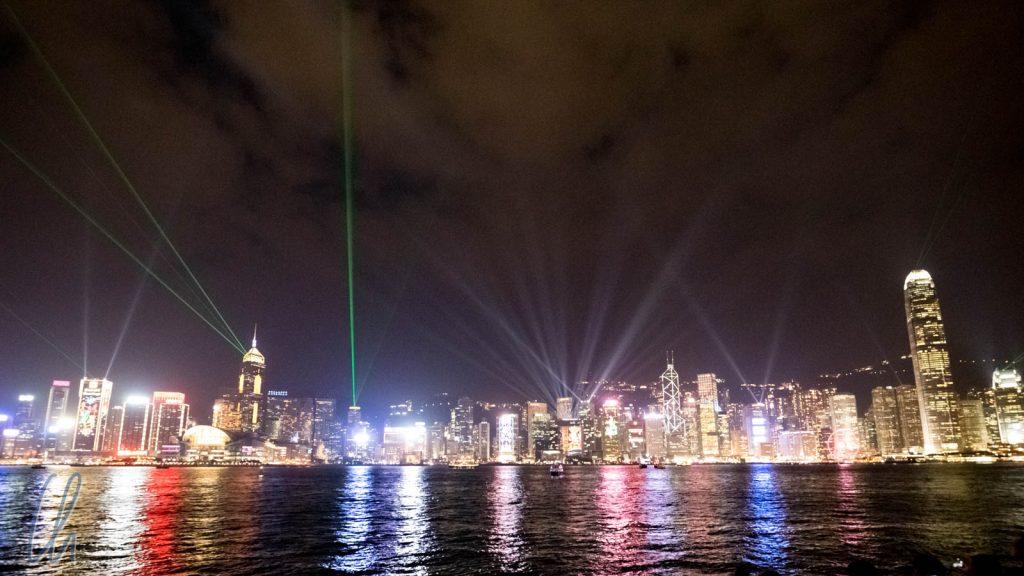 "Die abendliche Lasershow ""A Symphony of Lights"""