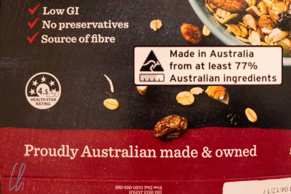 Die Australier sind sehr stolz auf ihre Lebensmittel