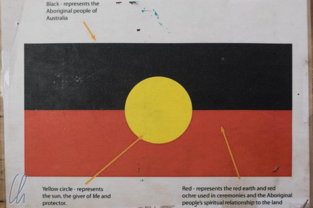 Die Aboriginal Flagge, ein Zeichen von Einheit