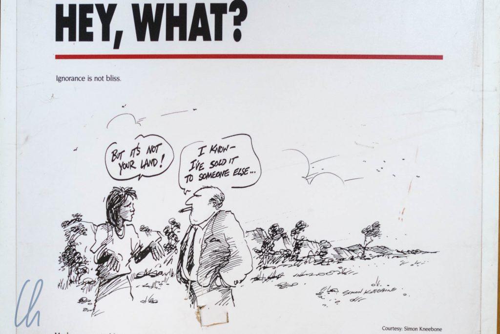 Ein anderes Verständnis von Landbesitz (gezeichnet von Simon Kneebone)