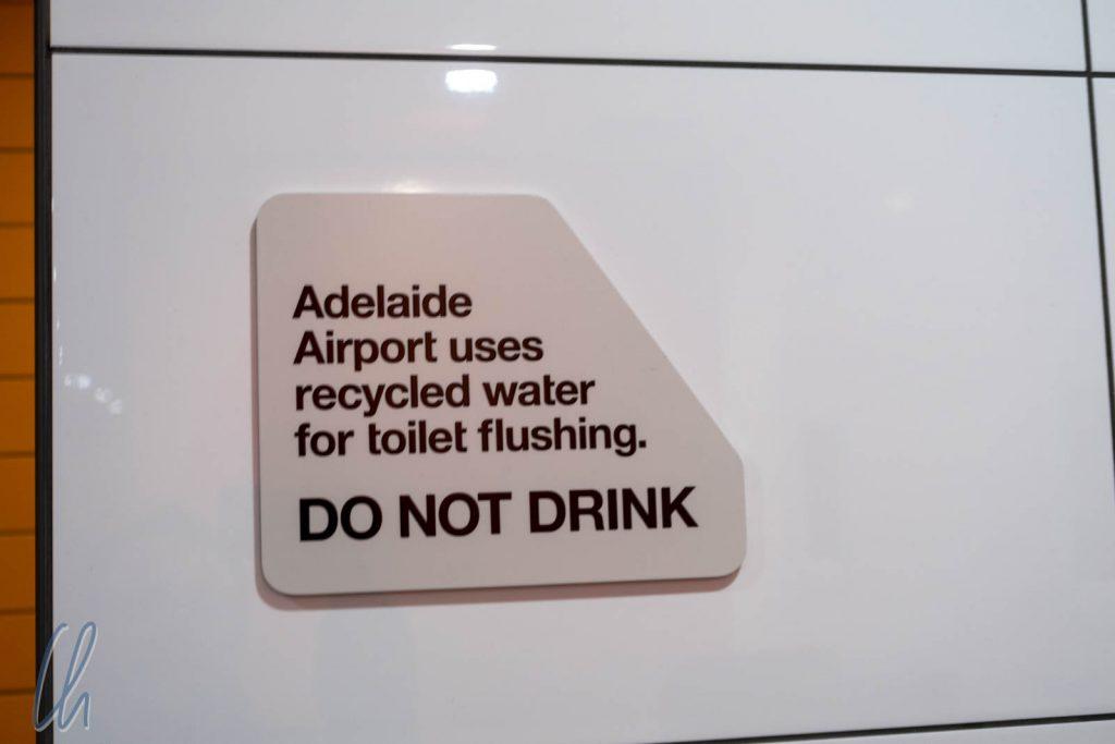 Schlechte Nachrichten für alle die gerne aus der Toliette trinken - hier wird kein Trinkwasser verwendet!