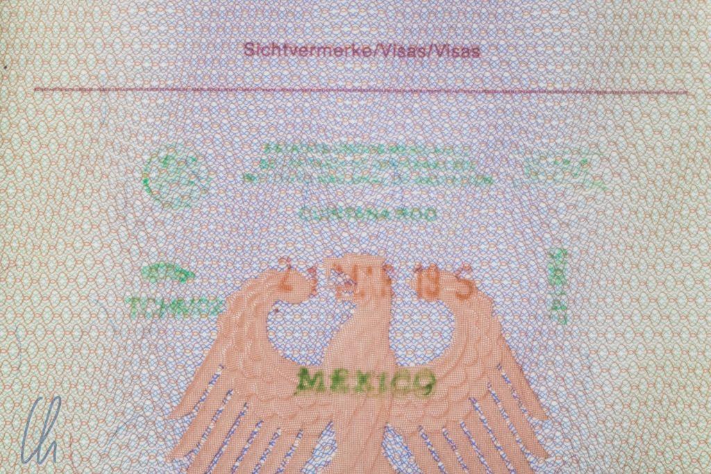 Am Ende doch ohne Exit Tax, der Ausreisestempel aus Mexiko
