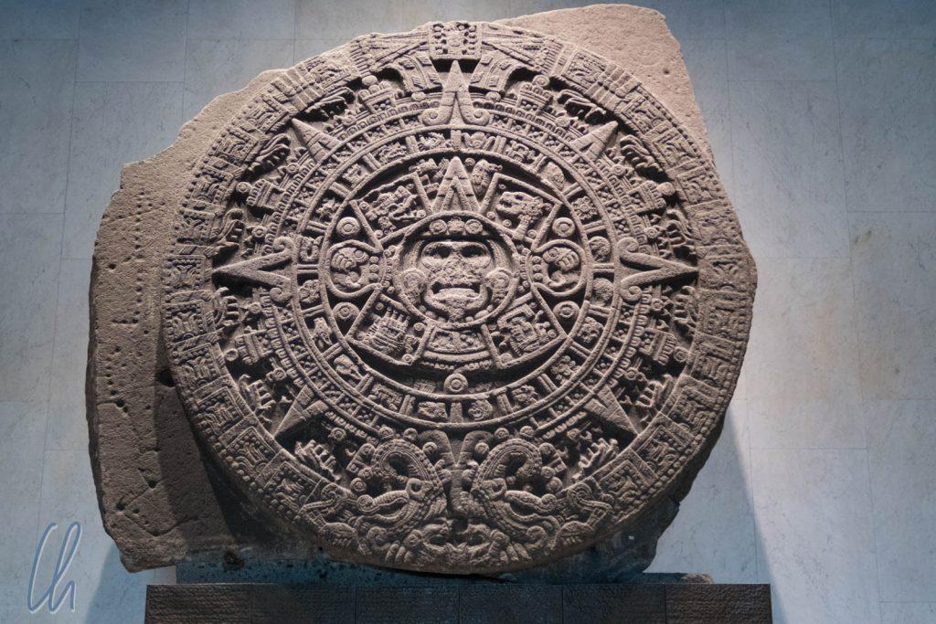 Der Stein der Sonne, eine Art Kalender der Azteken