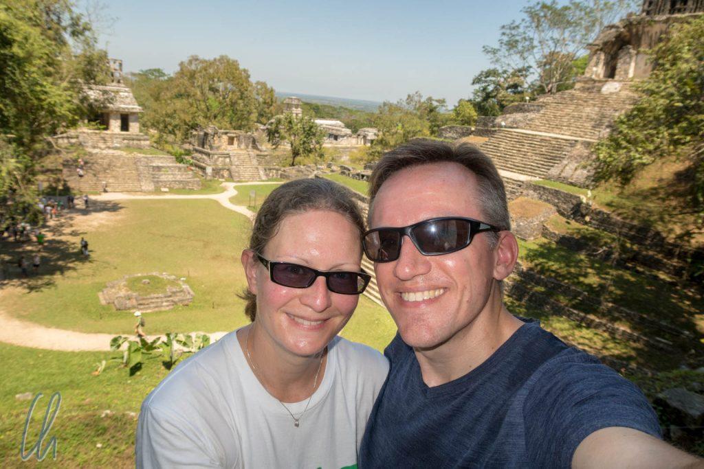 Blick von einer der Pyramiden in Palenque