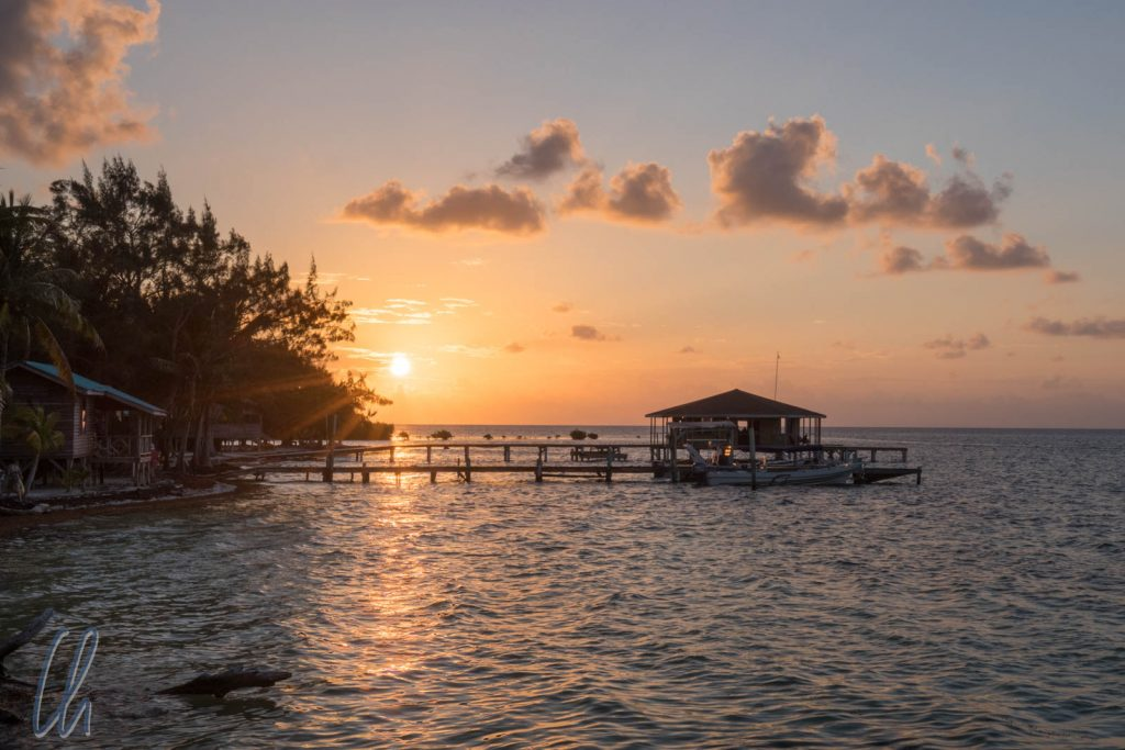 Sonnenuntergang am Glover's Reef