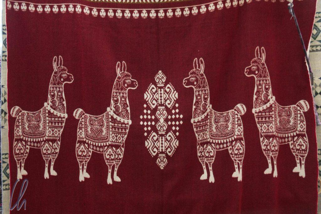 Das Lama, ein klassisches Andenmuster