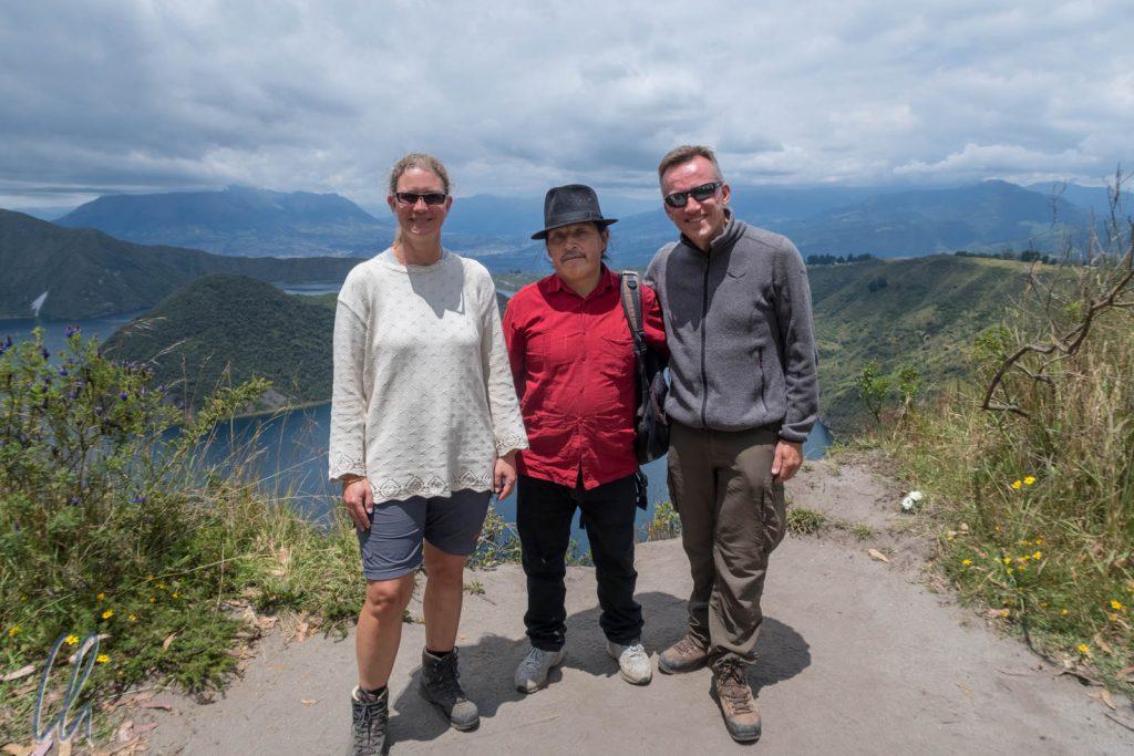 Gruppenbild mit Antonio, unserem Wanderführer