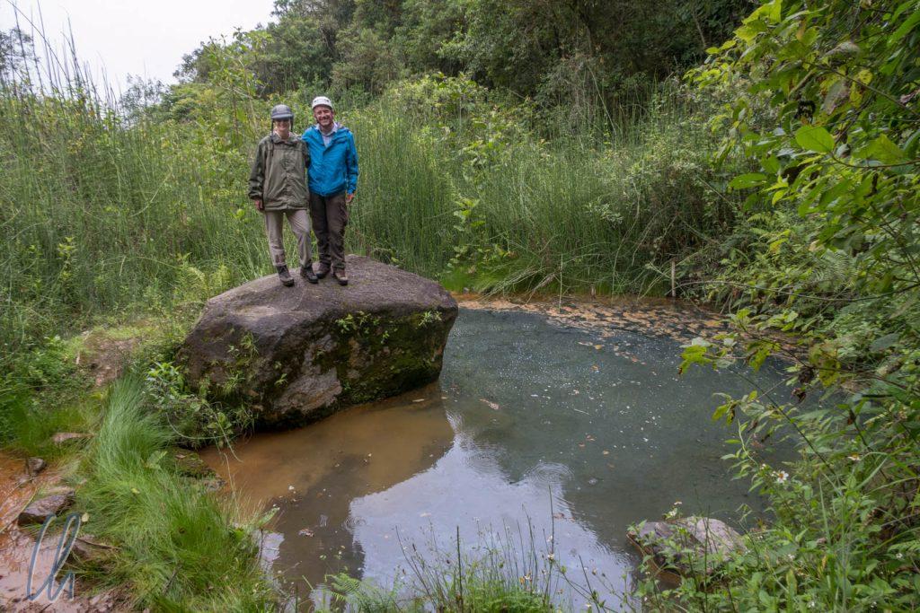 Die heißen Quellen im Pululahua Krater. Der Weg war beeindruckender als das Ziel.
