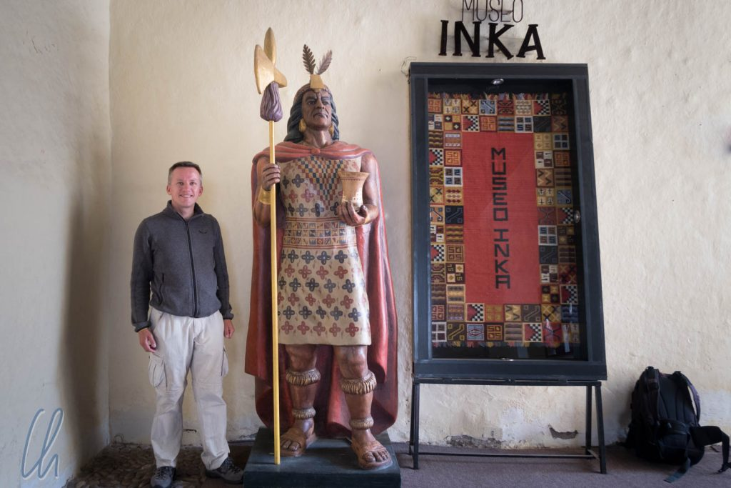 Großer Inka, kleiner Europäer