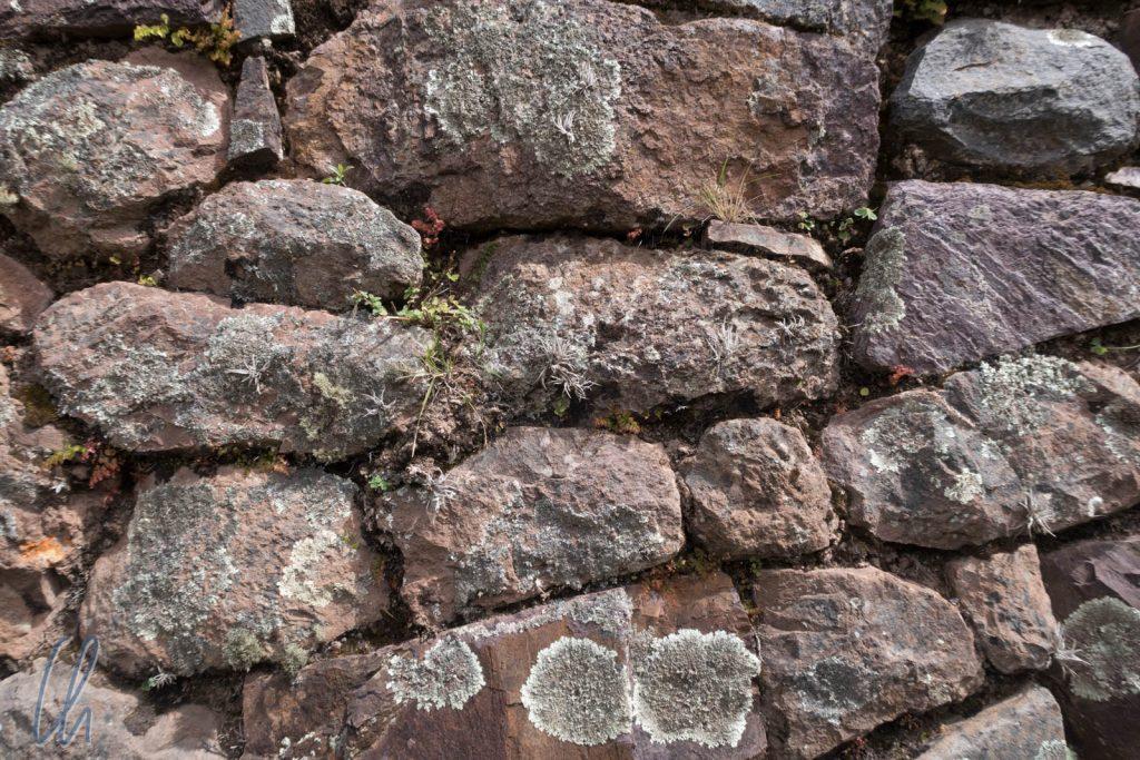 Eine ältere Mauer bzw. von einem einfach Gebäude