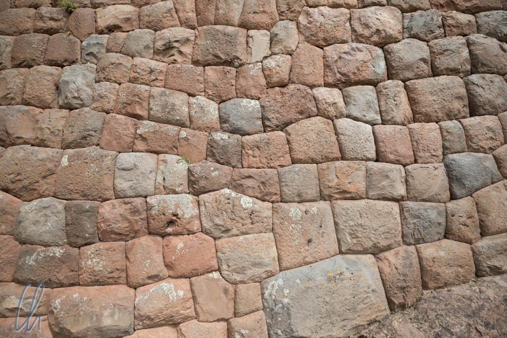 Eine Mauer der späten Inkazeit bzw. von einem wichtigen Gebäude