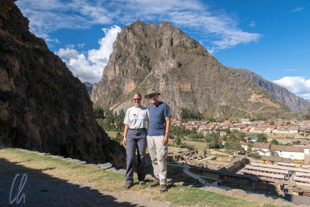 Beim Aufstieg in Ollantaytambo