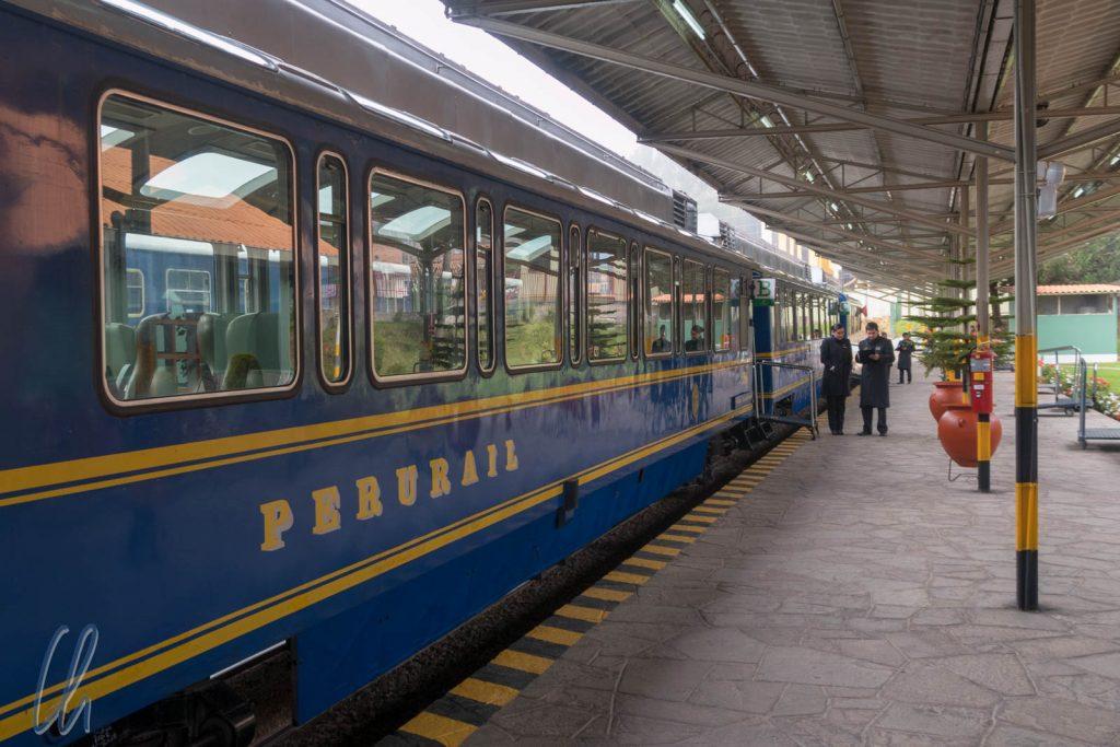 Kein Hogwarts-Express, sondern der Inca Train von Perurail
