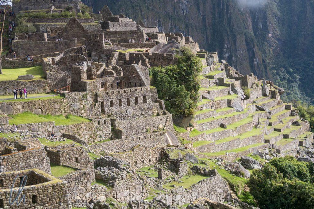 Die alte Inka-Stadt wurde prächtig ausgegraben