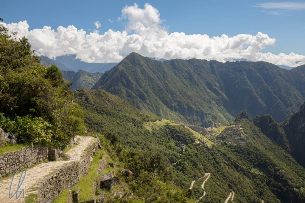 Blick vom Sonnentor (Intipunko) auch Machu Picchu