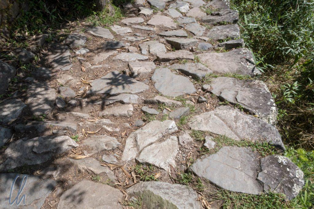 Das letzte Stück des Inka Trails war mit großen Steinen gepflastert