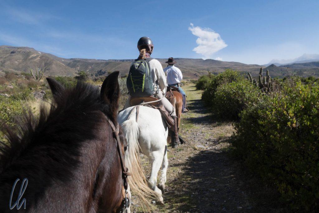 Die Reittour im Colca-Tal beginnt