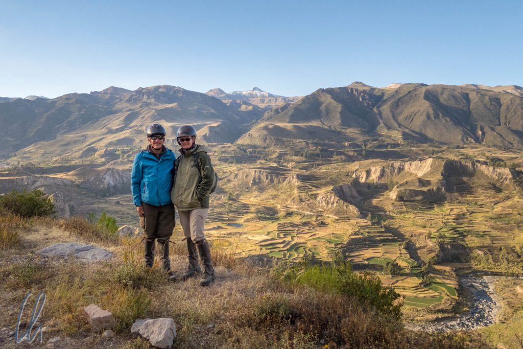 Ein letzter Blick ins Colca Tal