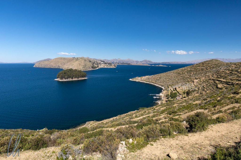 Im Süden der Isla des Sol, mit Blick auf das Festland