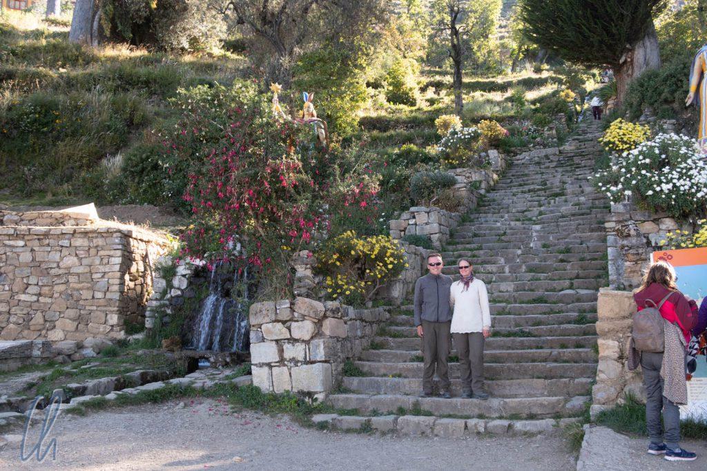 Die Treppe der Inca auf der Isla del Sol