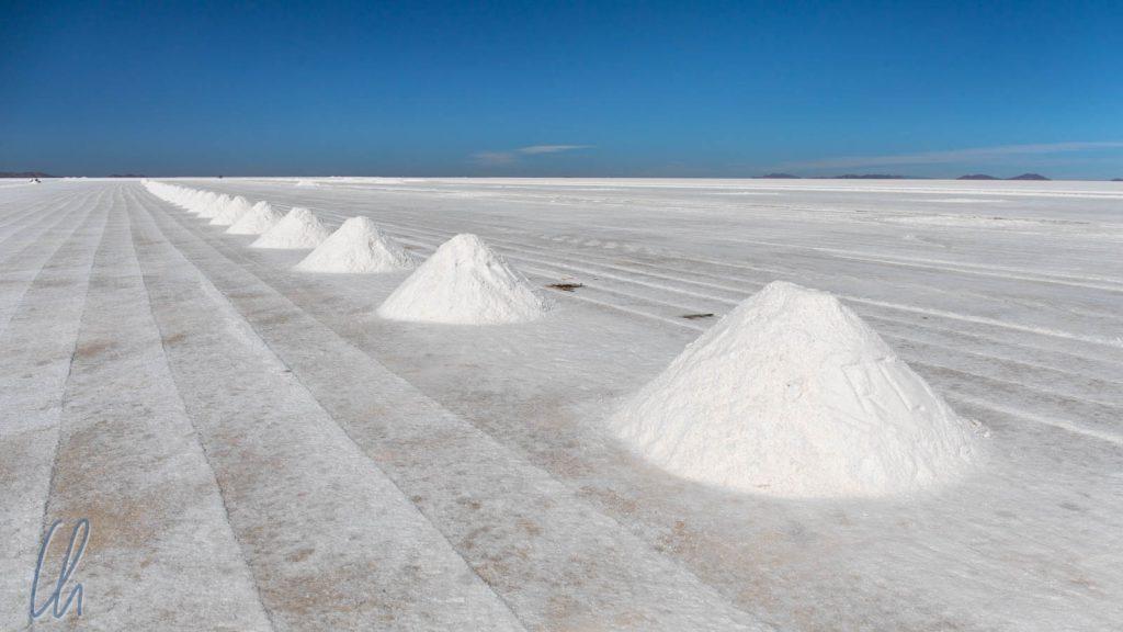 Salzproduktion auf dem Salar de Uyuni