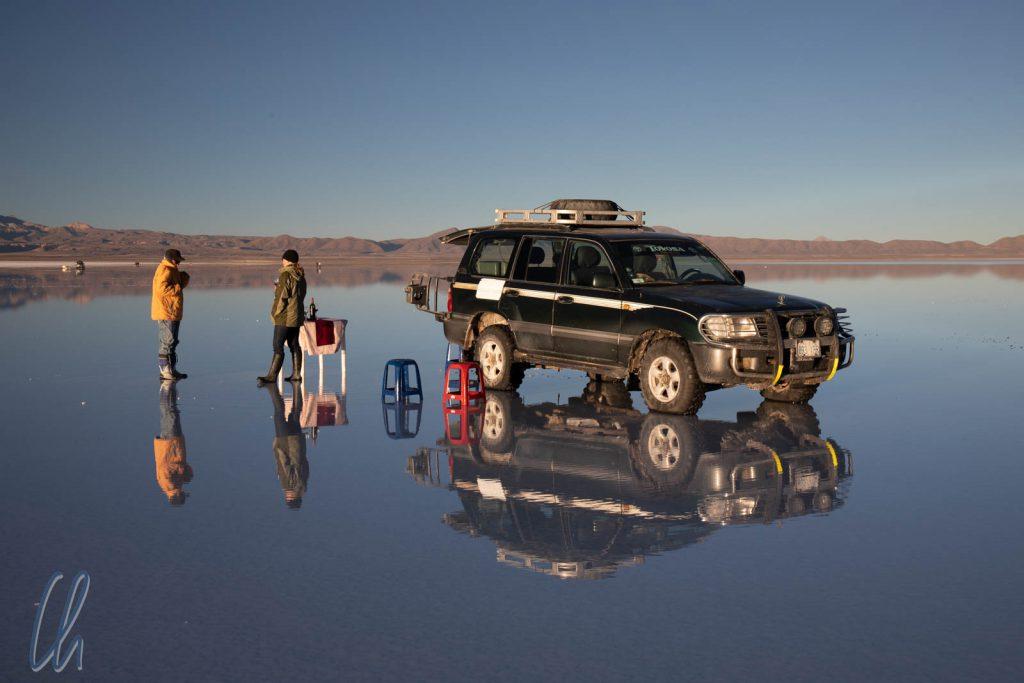 Das Wasser auf dem Salar de Uyuni war wie ein Spiegel