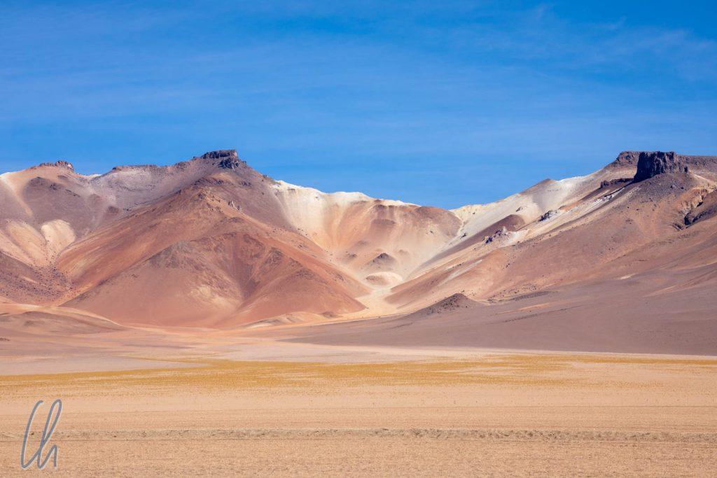 Die bunte Wüste im südlichen Altiplano nahe der chilenischen Grenze