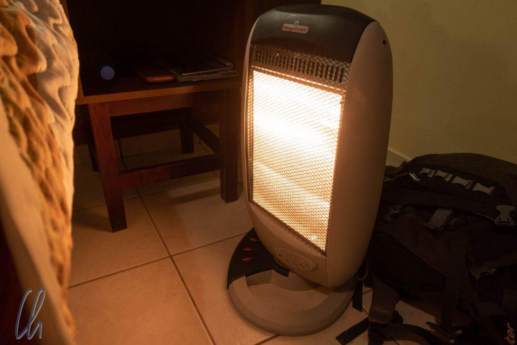 Auf verlorenem Posten: Mit 50% Leistung steig die Zimmertemperatur um maximal 2 Grad an