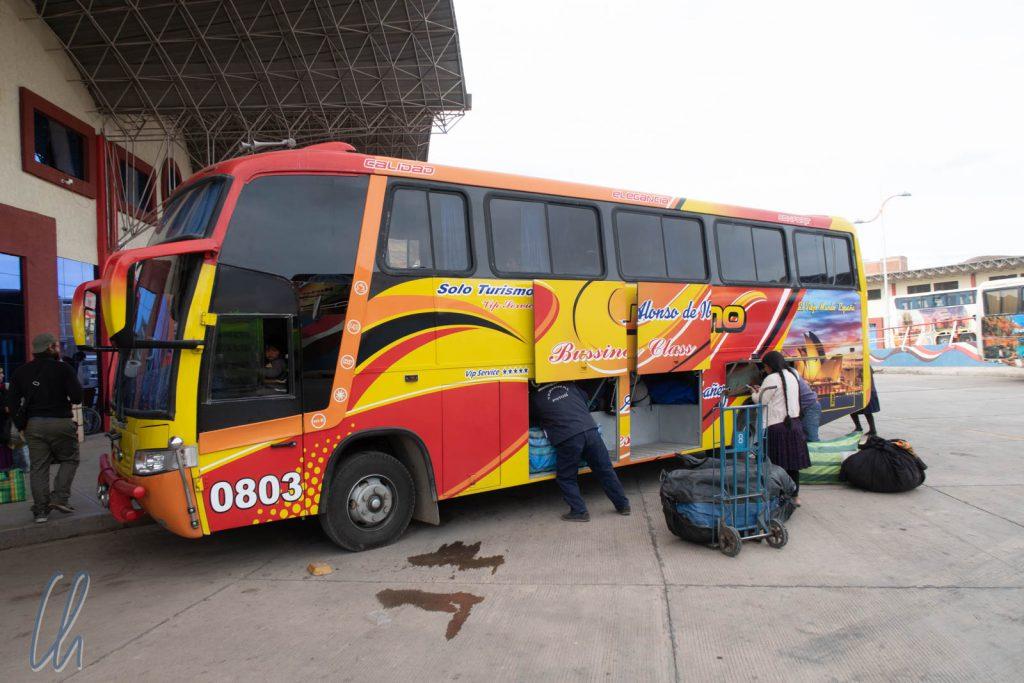 Der zweite Bus sah von außen gut aus, war aber schon sehr mitgenommen.