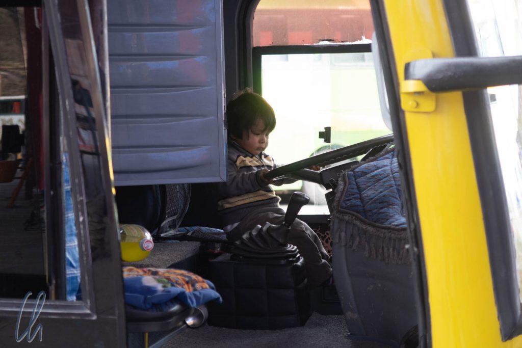Unser kleinster bolivianischer Busfahrer ;)
