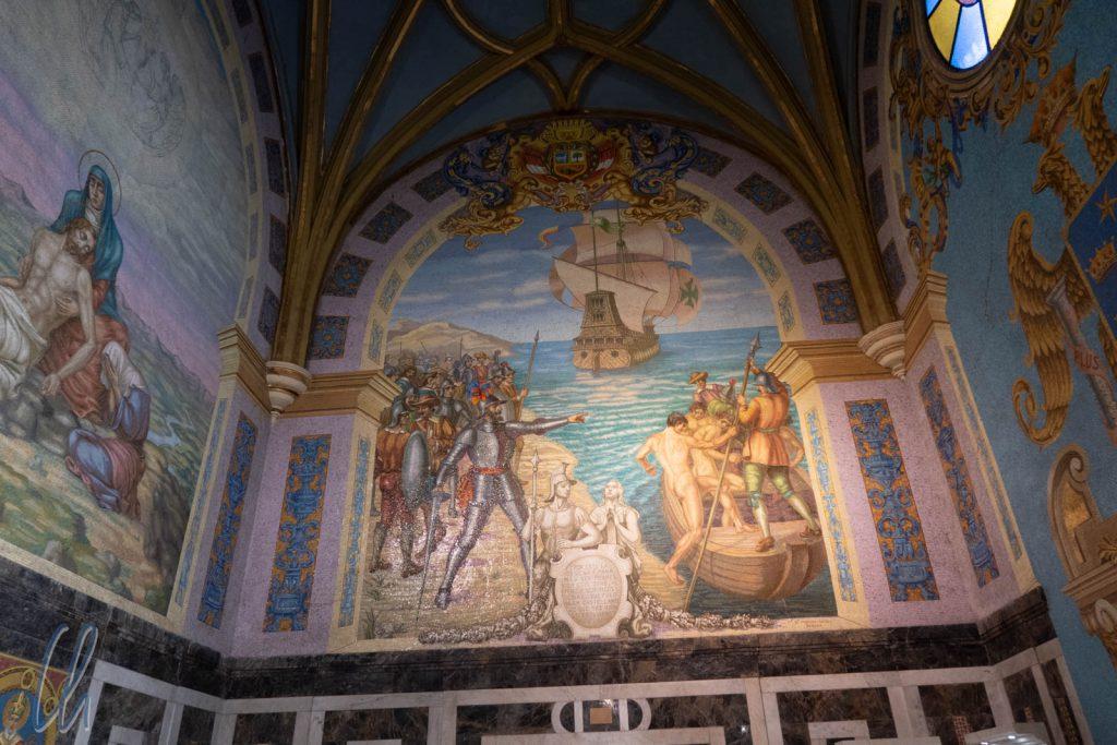 Die sterblichen Überreste von Francisco Pizarro befinden sich in der Kathedrale von Lima.