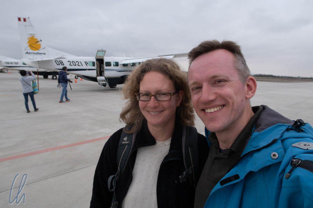 Bereit zum Start. Wir fliegen über die Nazca-Linien.