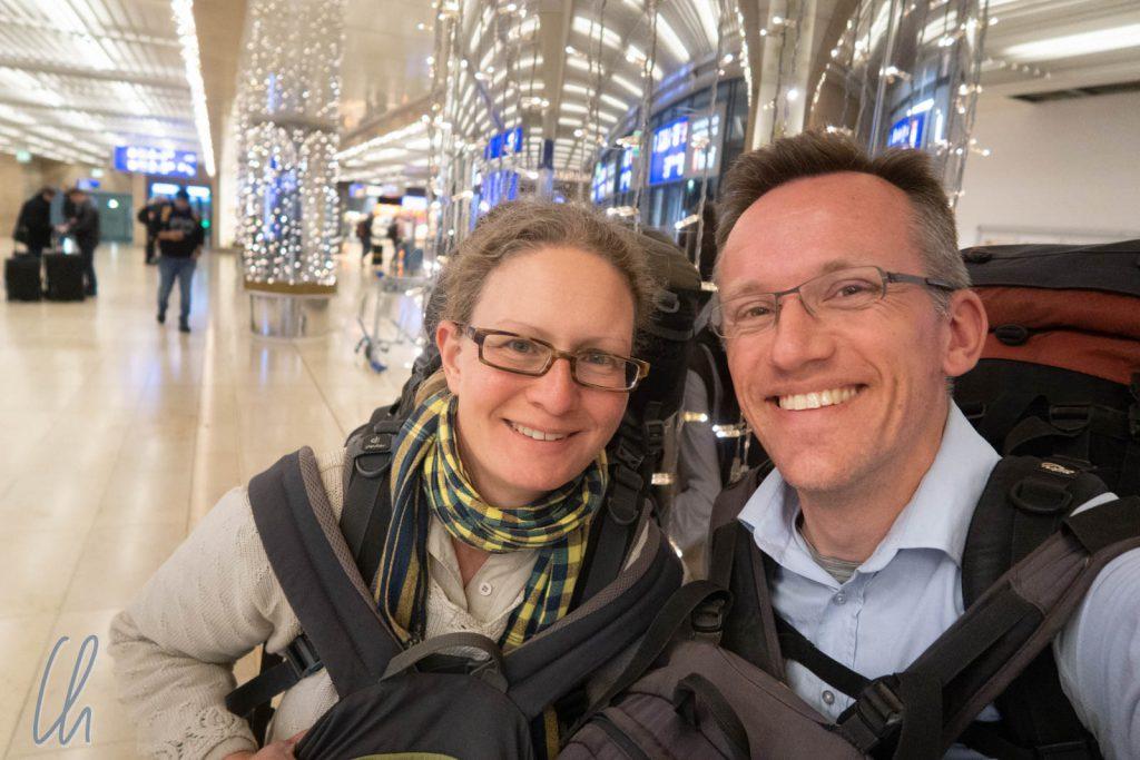 Zurück in Deutschland am Frankfurter Flughafen