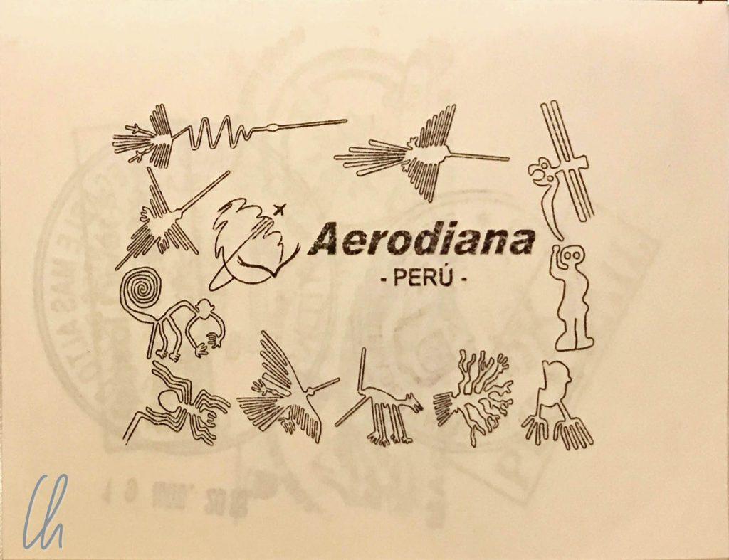 Ein Deluxe-Stempel von Aerodiana, er füllt eine ganze Seite aus.