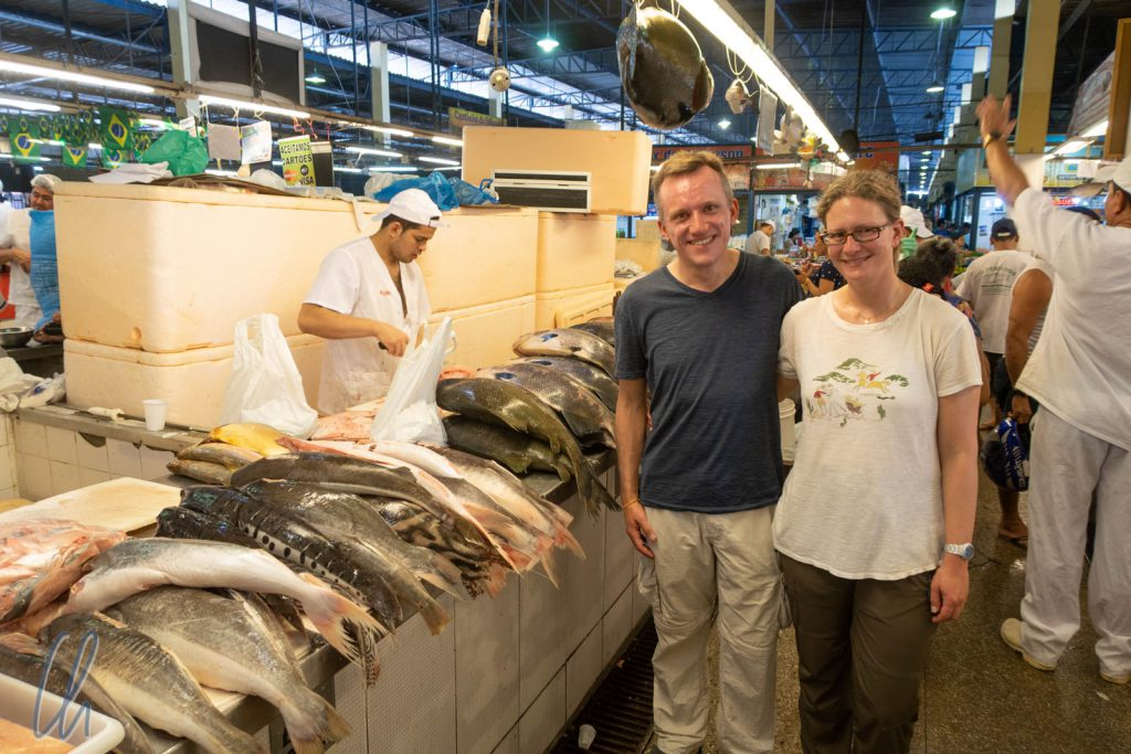 Frischer Fisch in der Markthalle von Manaus