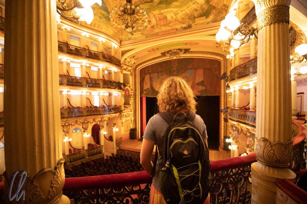 Blick aus der einer Logen im prächtigen Teatro Amazonas