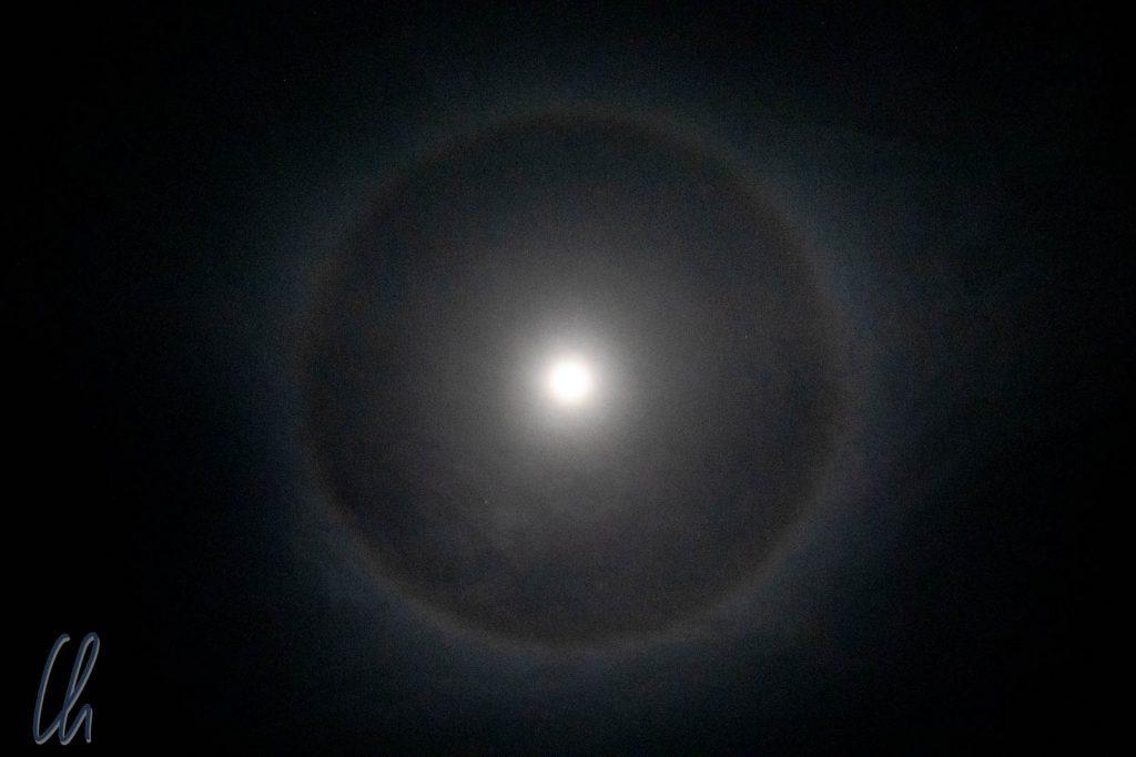 Ein 22°-Halo bzw. 22°-Ring