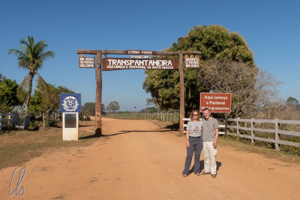 Die Einfahrt ins Pantanal auf der Transpantaneira