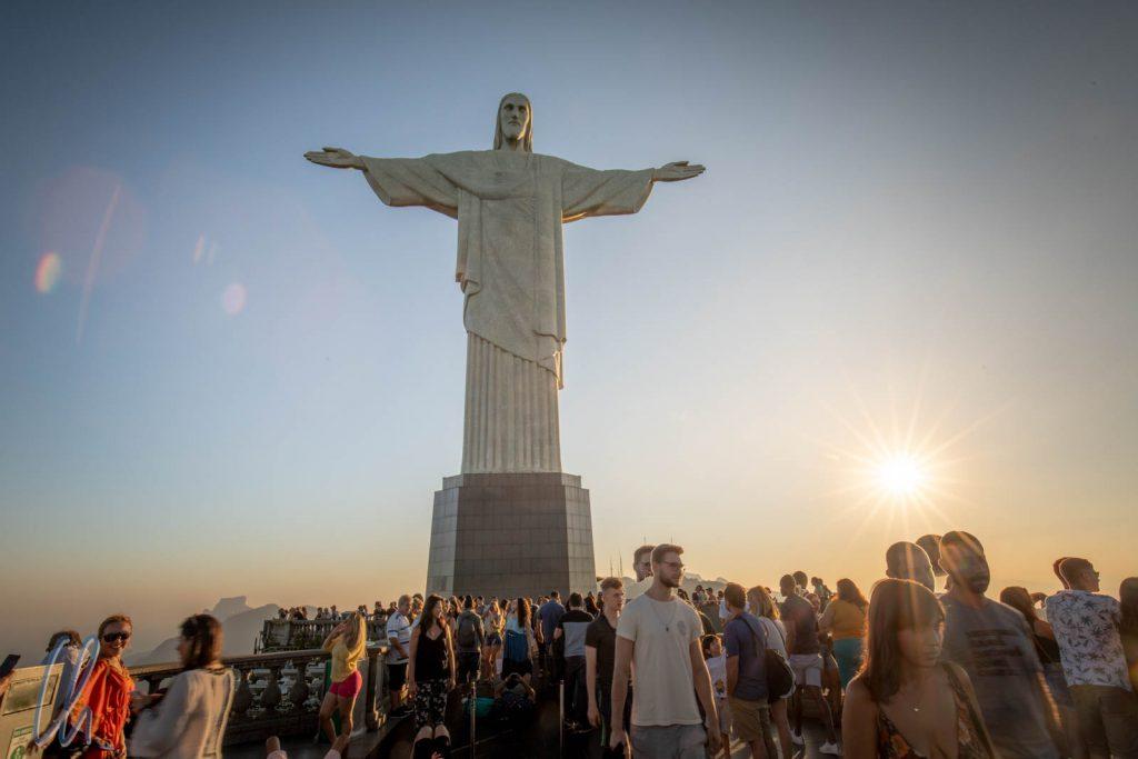 Christo Redentor, der Erlöser, und seine Jünger