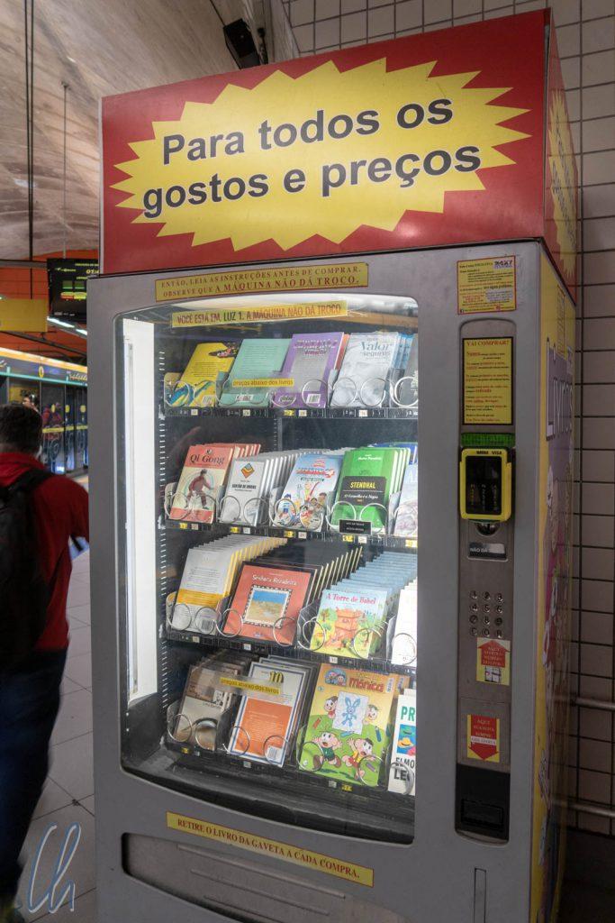 Ein Bücherautomat in der U-Bahn von São Paulo, das ist Fortschritt!